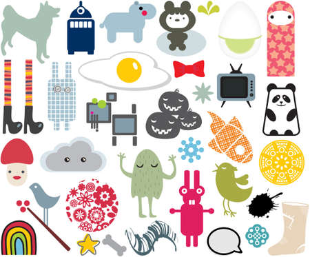 Mix of different vector images. vol.7 Illustration
