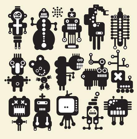 ninja: Roboter, Monster, Aliens Sammlung # 11. Vektor-Illustration. Illustration