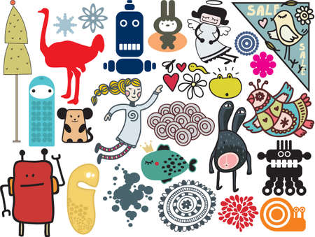 vector images: Mix of different vector images. vol.9