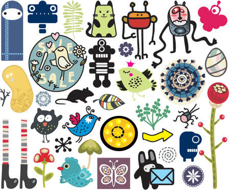 Mix of different vector images. vol.10 Vector