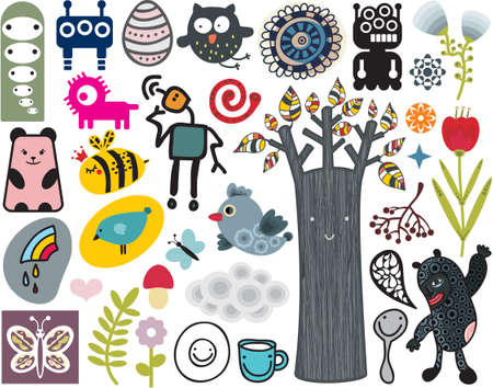 Mix of different vector images and icons. vol.12 Vector
