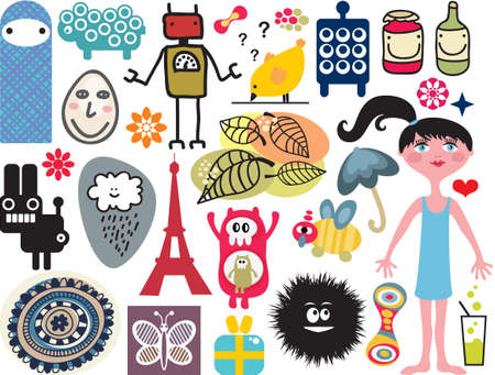 Mix of different vector images and icons. vol.14 Vector