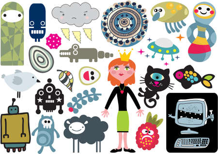 vector images: Mix of different vector images and icons. vol.15