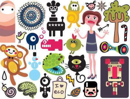 Mix of different vector images and icons. vol.18 Vector