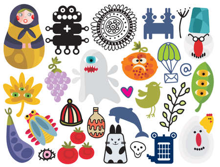 Mix of different vector images and icons. vol.23 Vector
