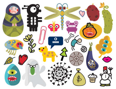 vector images: Mix of different vector images and icons. vol.24 Illustration