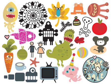 vector images: Mix of different vector images and icons. vol.26