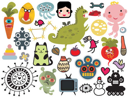 Mix of different vector images and icons. vol.27 Vector
