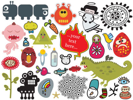 Mix of different vector images and icons. vol.28 Vector