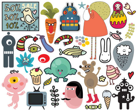 Mix of different vector images and icons. vol.29 Vector