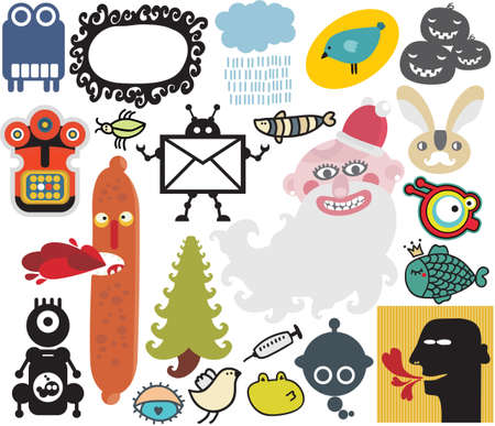 Mix of different vector images and icons. vol.34 Vector
