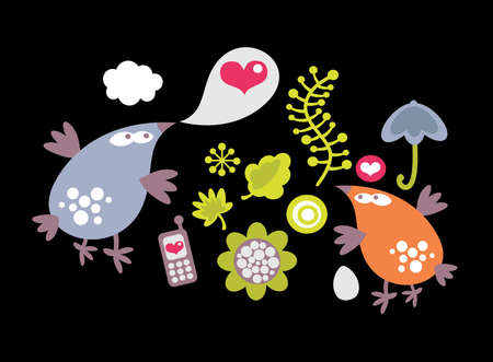 Set of vector images Stock Vector - 12440038