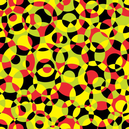 textile image: Seamless abstract texture with circles. Illustration