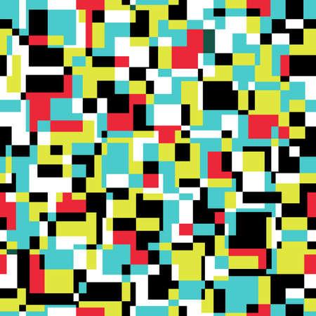 Naadloze abstracte textuur met rechthoeken. Stock Illustratie