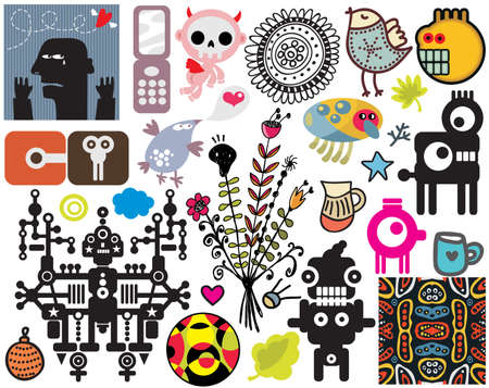 Mix of different vector images and icons. vol.43 Stock Vector - 12440066