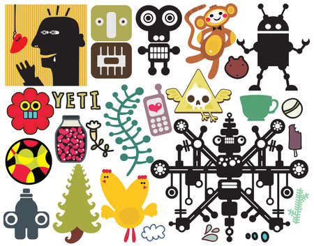 Mix of different vector images and icons. vol.42 일러스트