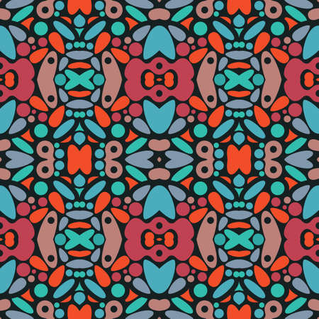 Seamless psychedelic background   Vector