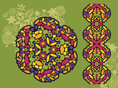original circular abstract: Decoration and psychedelic seamless pattern