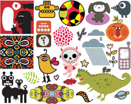 Mix of different vector images and icons  vol 44 Stock Vector - 12498013