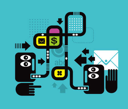 Communication in business. Illustration