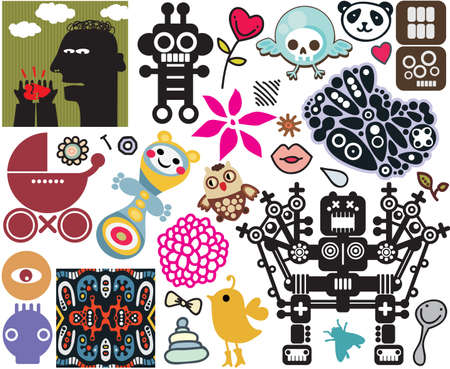 Mix of different vector images and icons. vol.45 Vector