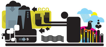 Ecology concept illustration. Vector