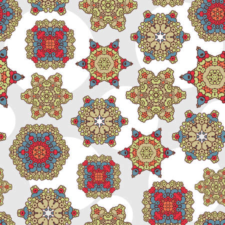 Seamless pattern with decoration  Vector texture  Vector