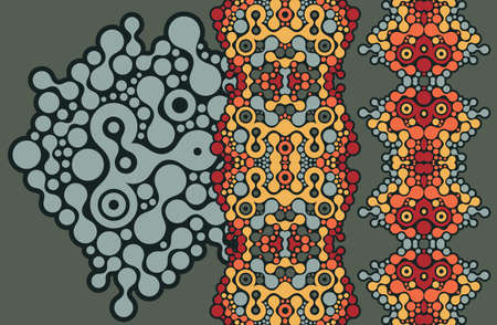 Two vertical seamless patterns. Vector