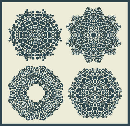Ornamental round and stars patterns. Vector