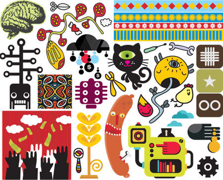 Mix of images . vol.50 Stock Vector - 13591677