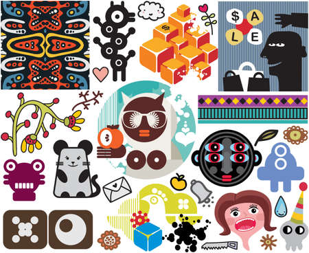 Mix of images. vol.51 Stock Vector - 13591526