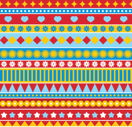Strip seamless pattern in style of 70s.