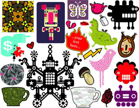 Mix of different vector images and icons  vol 57 Vector