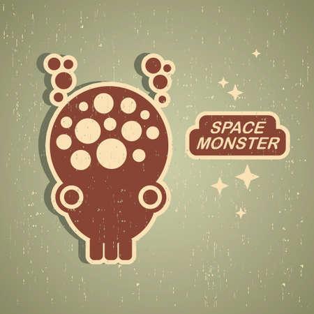 Vintage monster. Retro robot illustration Vector