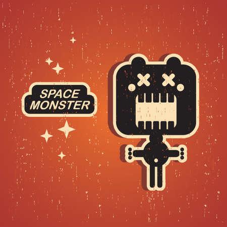 Vintage monster  Retro robot illustration in vector  Vector