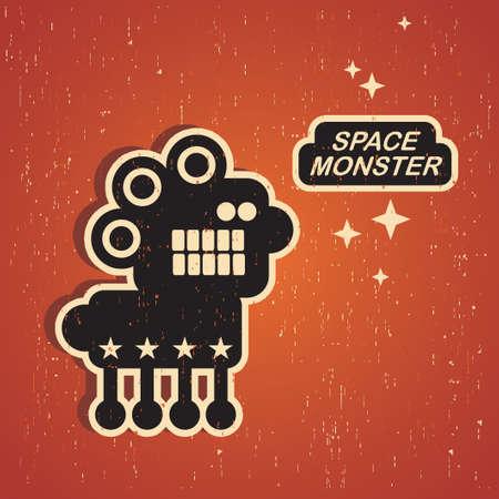 retro robot: Vintage monster. Retro robot illustration