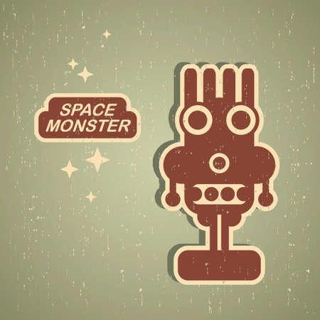 retro robot: Vintage monster  Retro robot illustration
