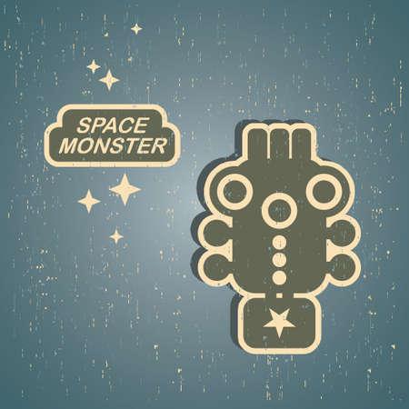 Vintage monster. Retro robot Stock Vector - 15093012