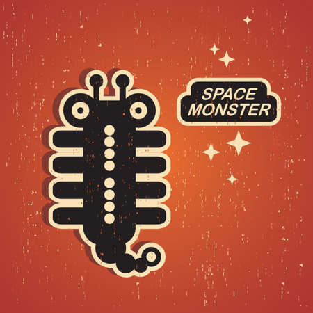 Vintage monster. Retro robot . Vector