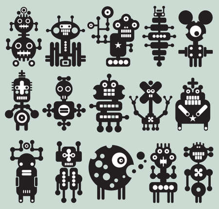 Monsters and robots collection #20. Vector