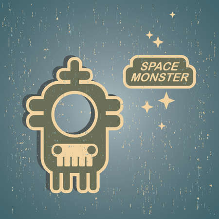 Vintage monster. Retro robot illustration Stock Vector - 15222761