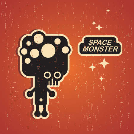 Vintage monster    Stock Vector - 15266957