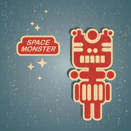 Vintage monster.  Vector