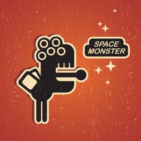 Vintage monster. Stock Vector - 15266956