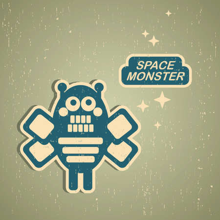 Vintage monster.   Stock Vector - 15266954