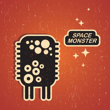 space robot: Vintage monster