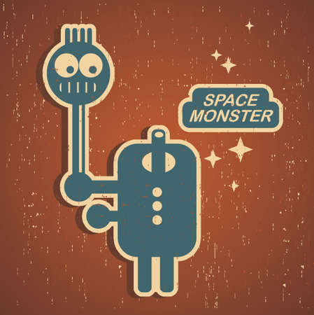 Vintage monster Stock Vector - 15331726