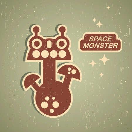 Retro monster. Vintage robot illustration Stock Vector - 15440687