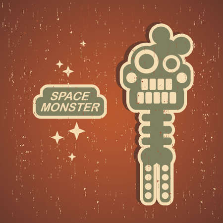 Retro monster. Vintage robot illustration  Stock Vector - 15445023