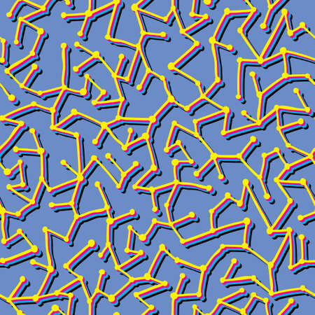Seamless texture with lines and dots. Vector mosaic illustration. Vector